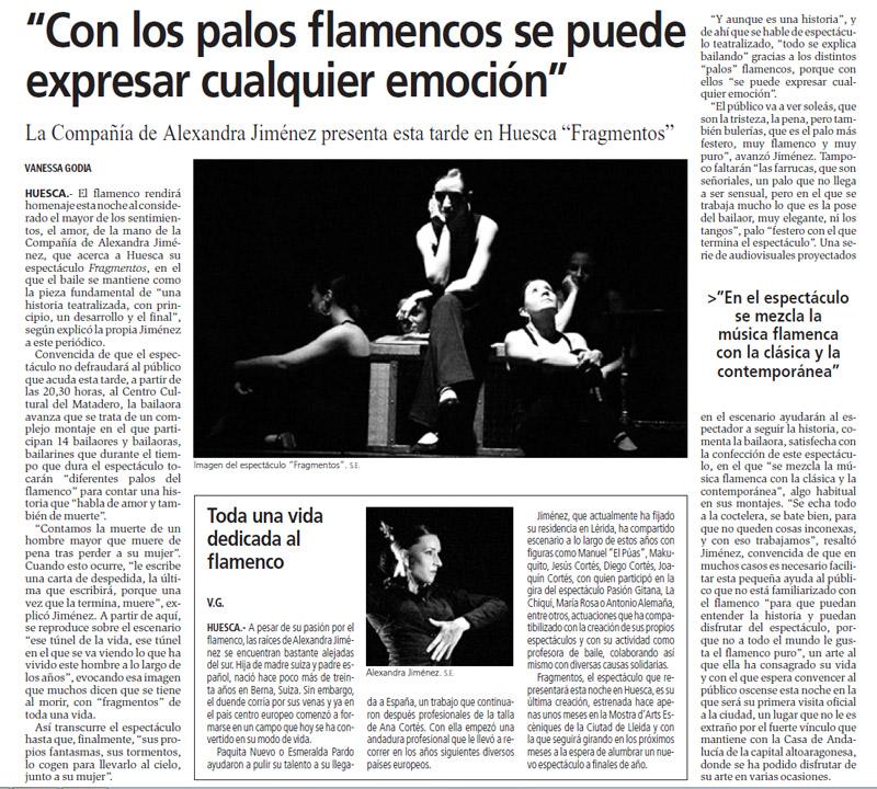 Alexandra Jimenez actua en el matadero, casa andalucia huesca