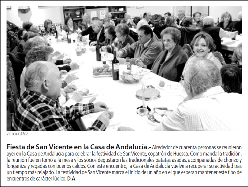 Fiesta san vicente en la casa de andalucia huesca