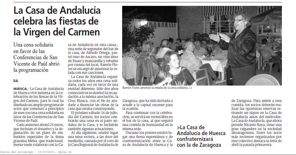 Casa de Andalucia celebra la fiestas del Carmen